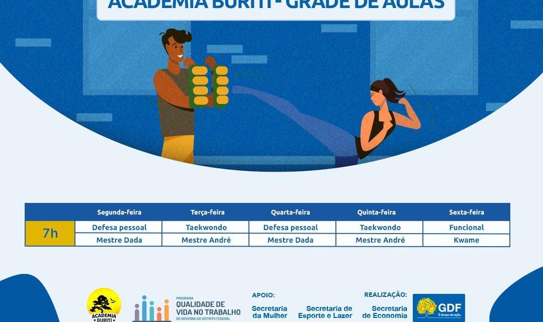 Academia Buriti oferece atividades físicas on-line